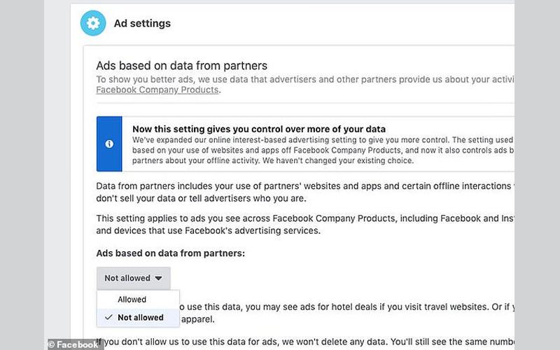 بشكل رسمي فيس بوك يجمع معلومات العملاء أثناء التسوق وهذه
