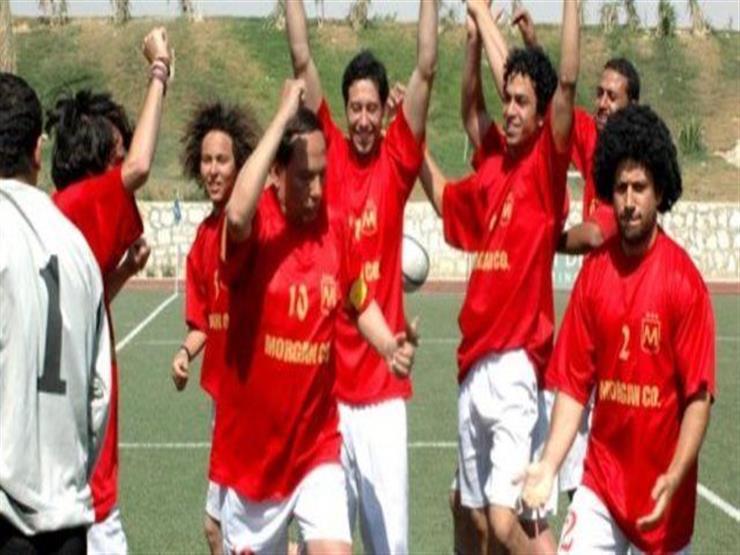 عادل إمام يحتفل بهدفه في فيلم مرجان أحمد مرجان