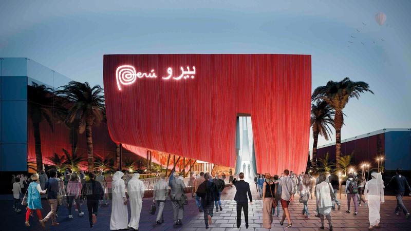 بيرو أطلقت خططها للمشاركة في «إكسبو 2020» خلال حفل تدشين جناحها في المعرض. من المصدر