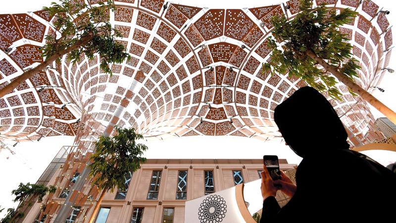 «إكسبو دبي» سيوفر للزائر رحلة تفاعلية بين الدول دون الحاجة إلى تأشيرات أو جواز سفر. أرشيفية