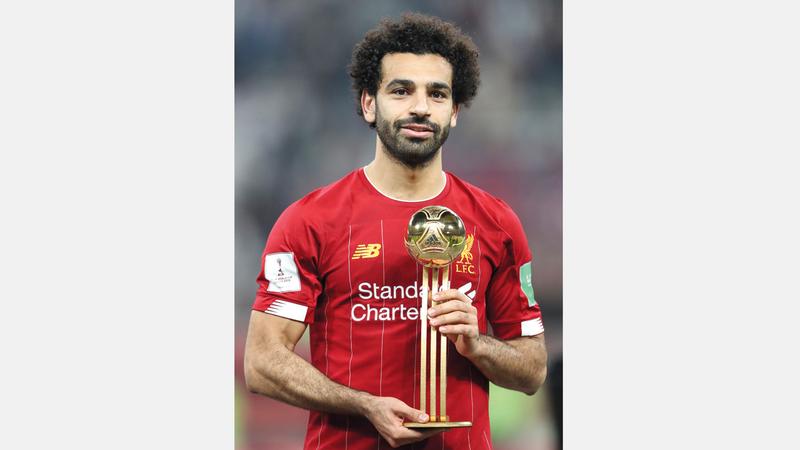 محمد صلاح توج بلقب أفضل لاعب في مونديال الأندية. إي.بي.إي