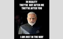 الصورة: ترامب ونتنياهو يسرقان رسالة استخدمها رئيس الوزراء الهندي
