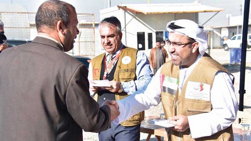 المعونات شملت سكان المخيمات في أربيل ودهوك ومخيمات النازحين من الموصل. من المصدر