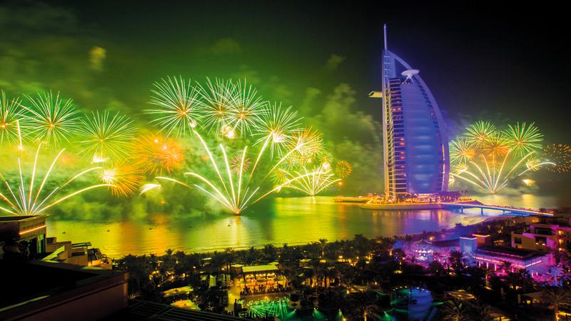 «برج العرب» يستعد لاحتفالات رأس السنة الجديدة بحفل «This Is 2020».  من المصدر