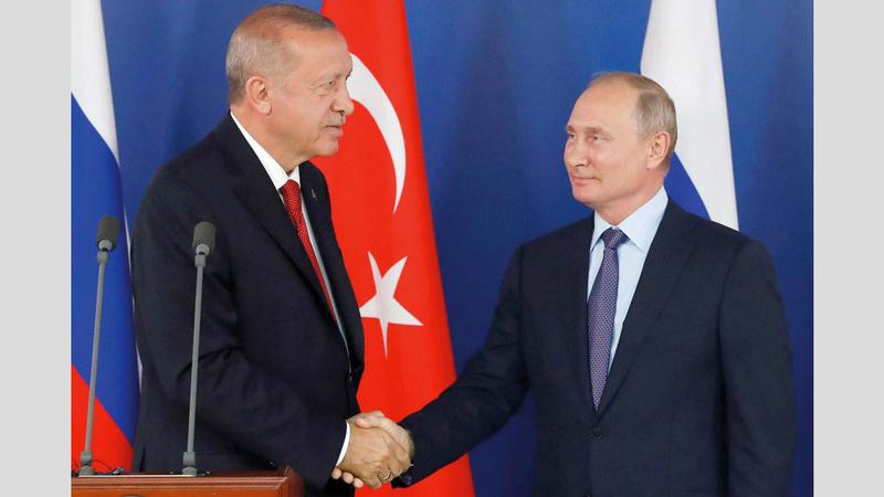 أردوغان وبوتين.. تعاون استراتيجي في المنطقة. غيتي