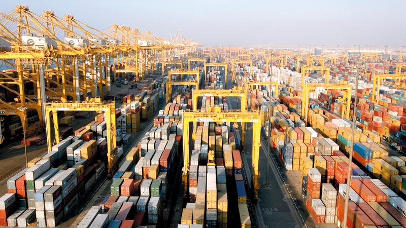 حجم الصادرات قفز 47% ليصل وزن بضائع الصادرات إلى 14 مليون طن خلال الأشهر التسعة الأولى من 2019.  أرشيفية
