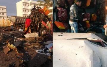 الصورة: وفاة 28 شخصاً في حادثي سير منفصلين بمصر