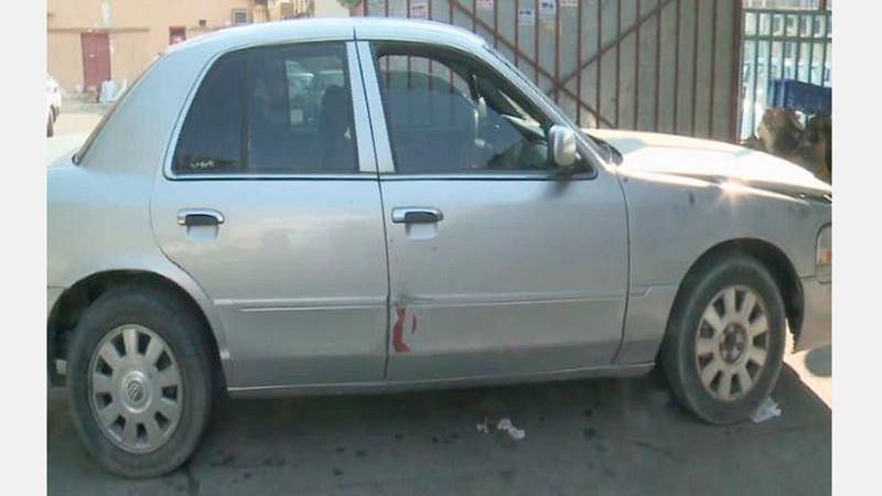 السيارة التي كانت مجهزة للعملية الإرهابية. واس