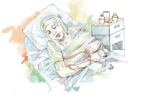 الصورة: «أم غزل» تحتاج إلى 28 ألف درهم لإجراء عملية مستعجلة في القلب