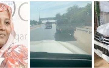 الصورة: السودان.. حادث مروري لمريم الصادق المهدي