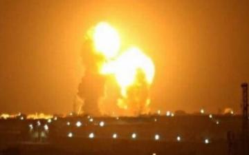 الصورة: هجوم صاروخي إيراني على قاعدتين أميركيتين في العراق