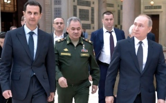 الصورة: بوتين يزور سورية في ظروف متوترة للغاية