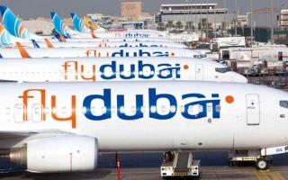 """الصورة: """"فلاي دبي"""" تعلن عن قائمة بالرحلات الملغاة ليوم 12 يناير"""