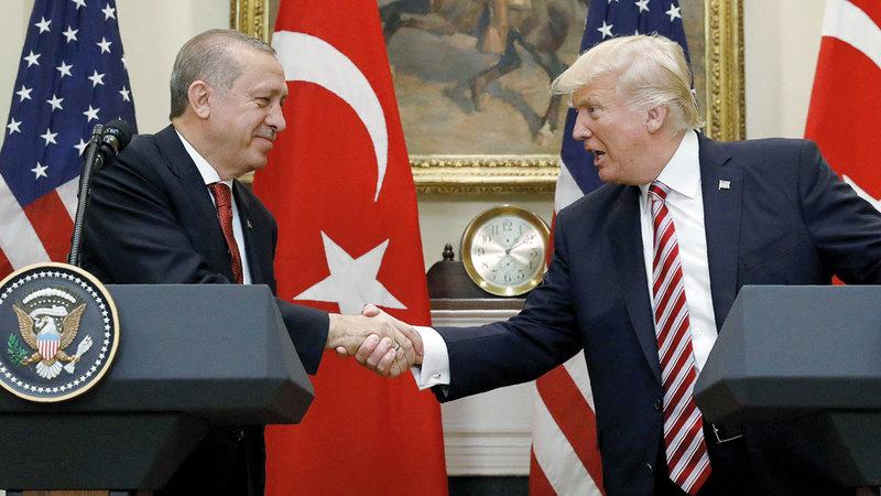 العلاقة بين ترامب وأردوغان شهدت توتراً كبيراً. أرشيفية