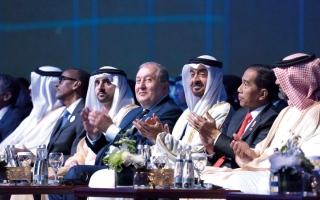 الصورة: محمد بن زايد: «أبوظبي للاستدامة» منبر للحوار وصياغة الأفكار
