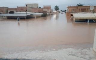 الصورة: سكان في الفحلين يطالبون بحل جذري يحميهم من خطر وادي نقب