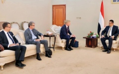 الصورة: وفد أوروبي بعدن لبحث استمرار دعم إيران لميليشيات الحوثي