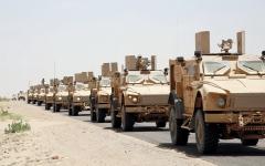 الصورة: القوات اليمنية المشتركة تبدأ عملية عسكرية تستهدف مواقع الميليشيات في إب