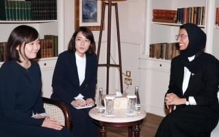 الصورة: سيدة اليابان الأولى في ضيافة «الثقافة» الإماراتية