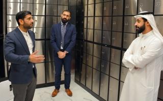 الصورة: افتتاح منشأة فاخرة لتخزين وإيداع المجوهرات في دبي