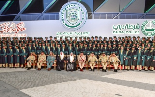 الصورة: حمدان بن محمد يرعى حفل تخريج الدفعة الـ27 من الطلبة المرشحين بأكاديمية شرطة دبي