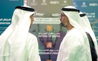 الصورة: خالد بن محمد بن زايد يشهد إطلاق «أبوظبي للمناخ» لتعزيز الابتكار في الاستدامة