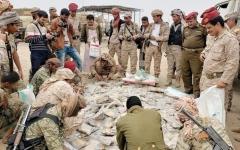 الصورة: إتلاف 3.3 أطنان من الحشيش المخدر في اليمن