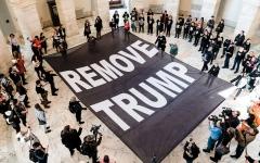 الصورة: محامو ترامب يقدّمون حججهم الدفاعية ضد عزله