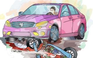 """الصورة: """"مشروبات كحولية"""" تقود آسيوياً للمحكمة لتسببه في وفاة سائق دراجة نارية"""