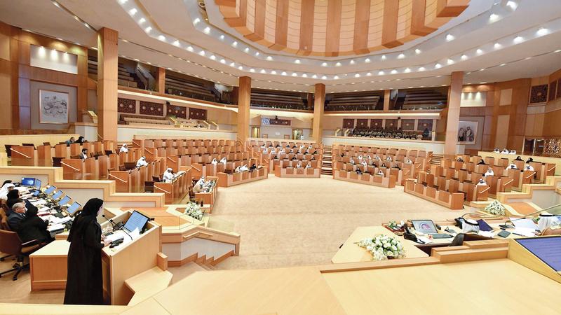 جلسة «الوطني» شهدت جدلاً ونقاشاً ساخناً بين أعضاء حول مشروع القانون. أرشيفية