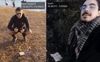 """الصورة: نيوزيلندي وإسباني يصنعان """"شطيرة الأرض"""" على مسافة 20 ألف كيلومتر"""