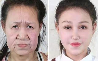 """الصورة: بالصور.. عجوز الـ15 عاماً تخضع لعمليات تجميل لتبدو """"بعمرها"""""""