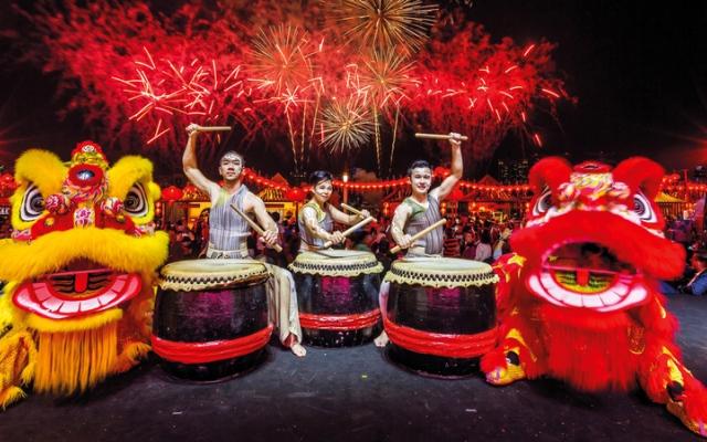 الصورة: جزيرة المارية تستقبل السنة الصينية بيومين من الاحتفالات
