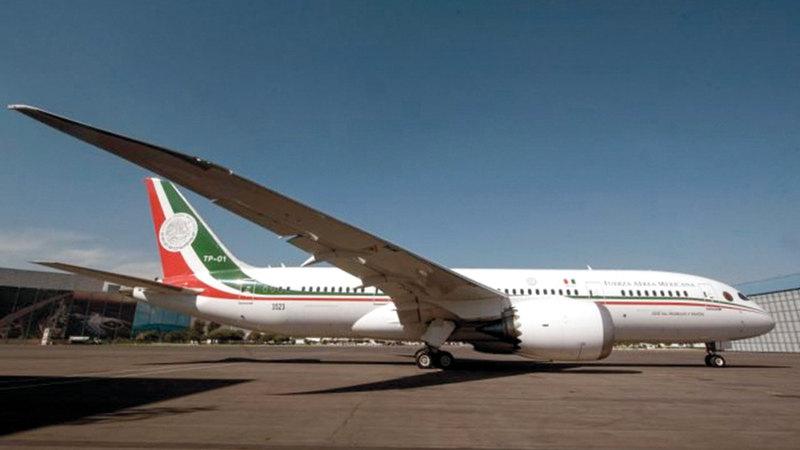الطائرة الرئاسية برسم البيع. ■ من المصدر