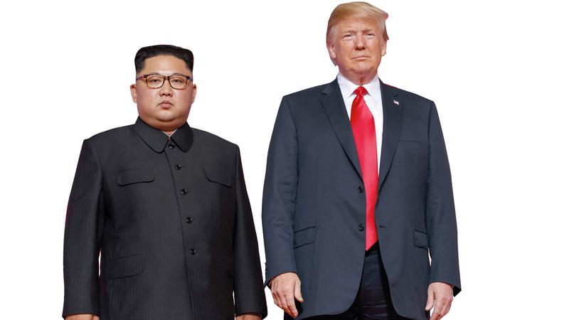 ترامب كان مهتماً كثيراً بعقد صفقة مع رئيس كوريا الشمالية كيم يونغ أون. أ.ب