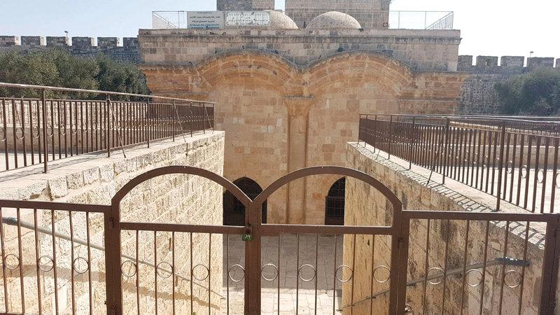 إسرائيل تهدف إلى فرض السيطرة المكانية على مصلى باب الرحمة في المسجد الأقصى المبارك.  أرشيفية