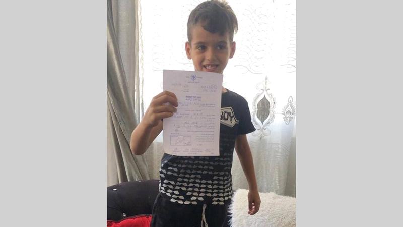 الطفل قيس عبيد «6 أعوام» الذي تلقى استدعاء في يوليو الماضي من الشرطة الإسرائيلية. من المصدر