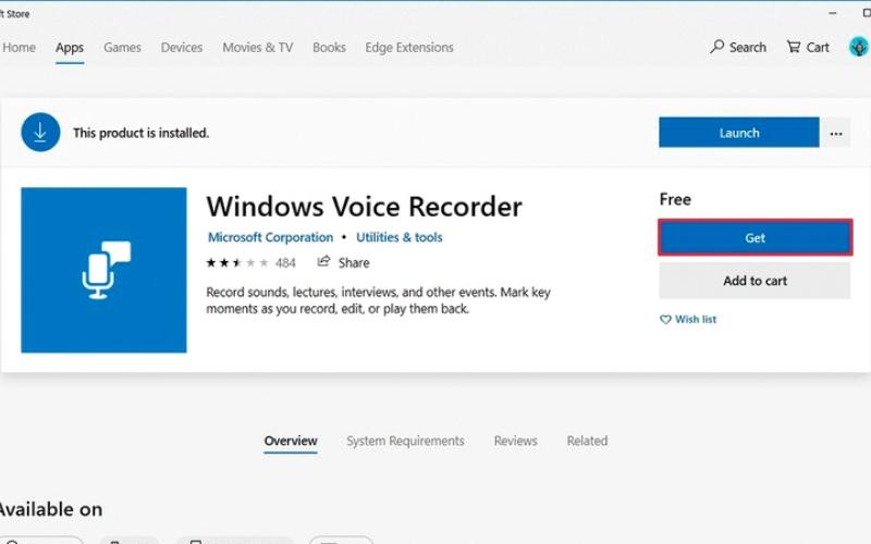 الصورة: الوصول إلى تطبيق التسجيل الصوتي في «ويندوز 10»