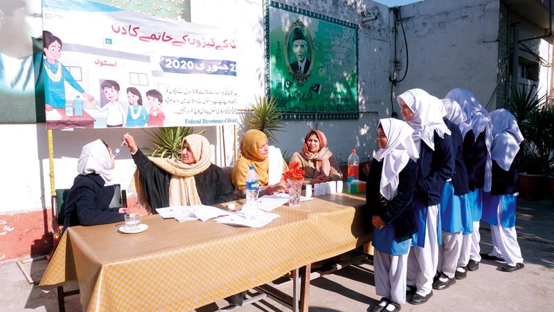 عدد من الطلاب في باكستان ضمن 44 مقاطعة يستهدفهم البرنامج.  من المصدر