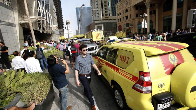 حرائق المباني السكنية في دبي انخفضت 12% العام الماضي. تصوير: أشوك فيرما