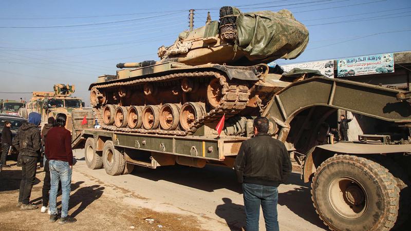 جنود أتراك بسورية في مهمة لحماية الحدود التركية. أ.ف.ب