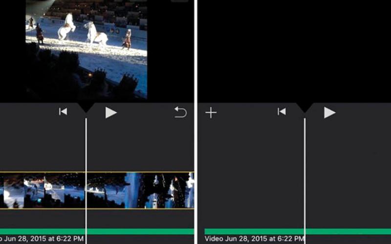 الصورة: فصل الصوت عن الفيديو في iMovie app