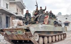 الصورة: الجيش السوري يسيطر على سراقب بالكامل ويعلنها مدينة محررة