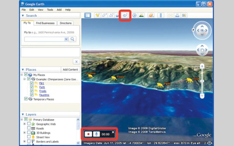 الصورة: استخدام «السرد الصوتي» في Google Earth