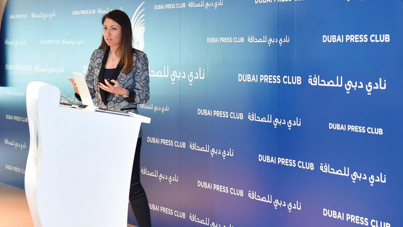 كندة إبراهيم: ملتزمون بتدريب الإعلاميين لمساعدتهم على مواكبة متطلبات القطاع وتوجهاته المستقبلية.  من المصدر
