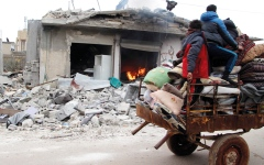 الصورة: نزوح 70 ألف مدني من ريف حلب