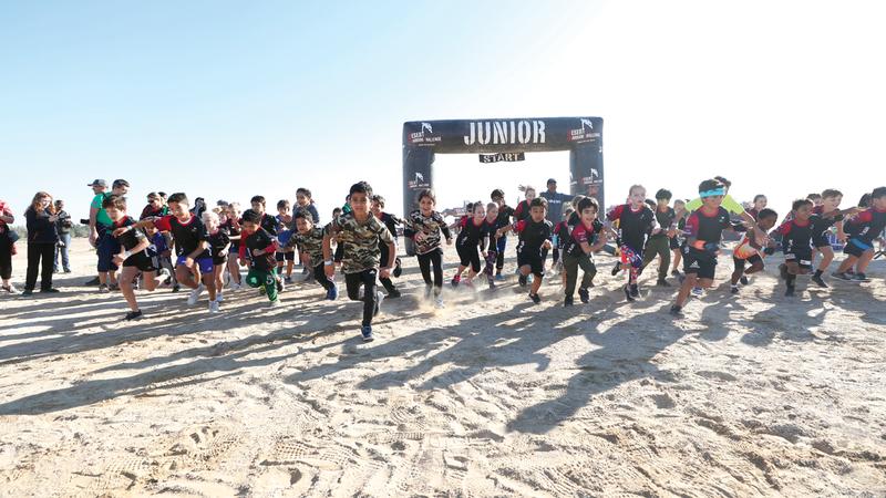 من سباق الأطفال ضمن تحدي الصحراء (ديزرت وورير 2020). من المصدر