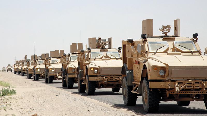 قوات الجيش اليمني مسنودة بالتحالف حققت انتصارات كبيرة في جبهات جبال يام بصنعاء. أ.ف.ب