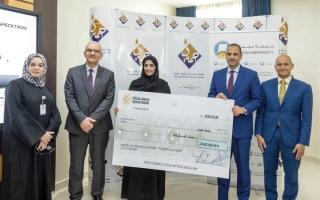 الصورة: «النعيمي الخيرية» تدعم طلبة جامعة عجمان وكلية المدينة الجامعية بـ900 ألف درهم
