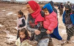 الصورة: موجة نزوح غير مسبوقة شمال شرق سورية